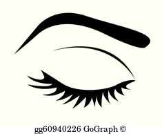 Clipart eyes closed clip free stock Closed Eyes Clip Art - Royalty Free - GoGraph clip free stock