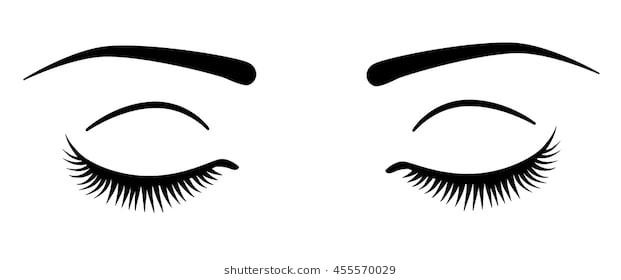 Clipart eyes closed image black and white Eyes closed clipart 3 » Clipart Station image black and white