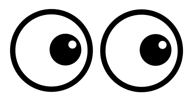 Clipart eyes looking down image library download Banner Transparent Download Clip Art Of #61736 - PNG Images - PNGio image library download