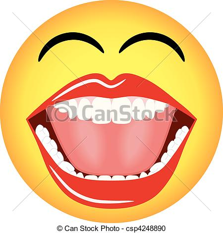 Clipart face with big mouth jpg library library Vector Clipart of Smiley Face Emoticon Vector - Vector ... jpg library library