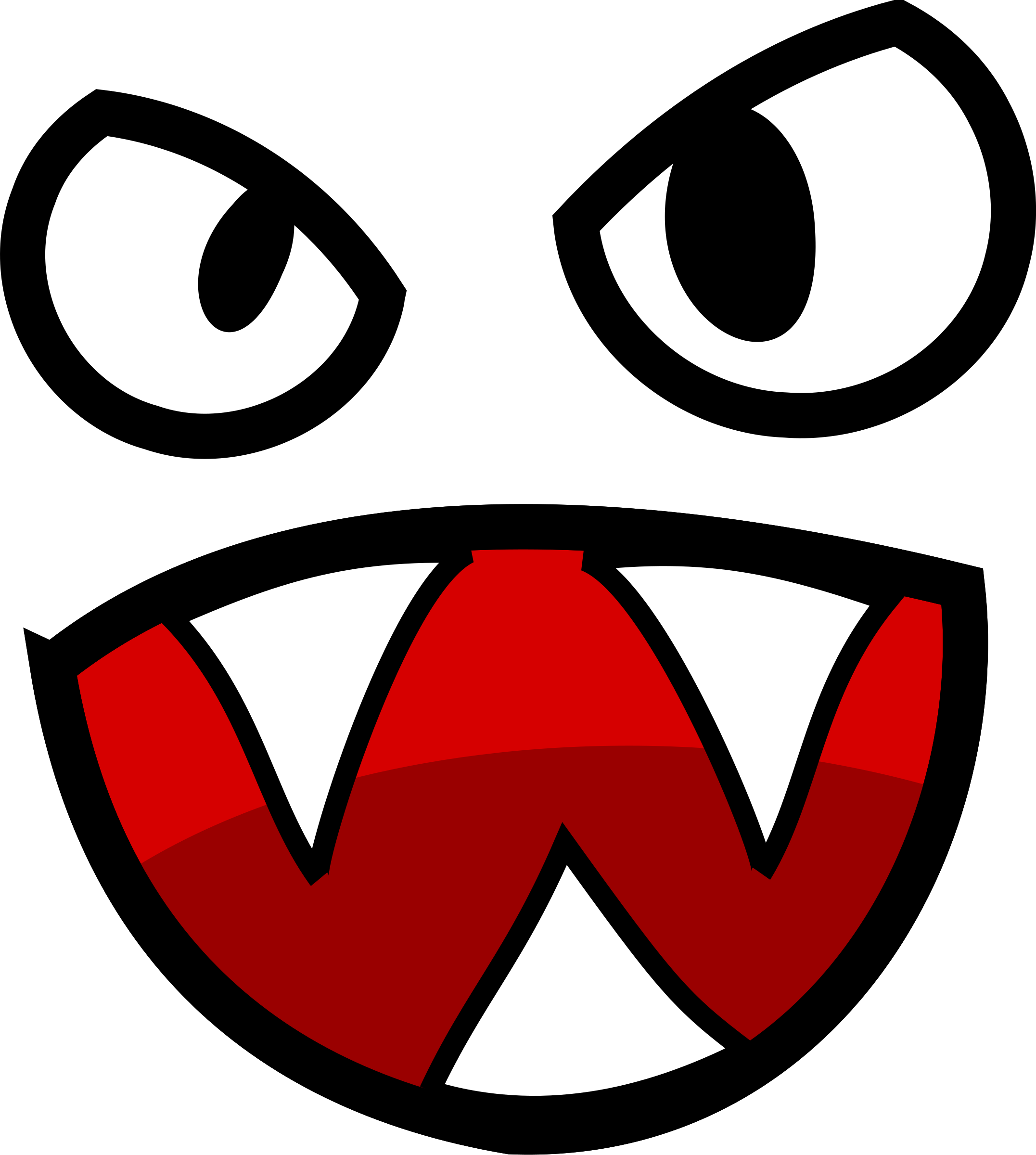 Clipart face with big mouth png Monster face with big mouth clipart - ClipartFest png