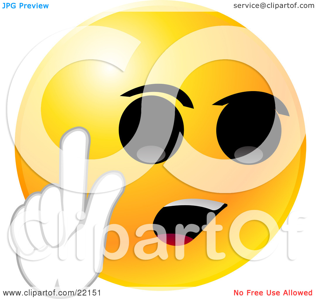 Clipart face with big mouth clip freeuse Clipart Illustration of a Yellow Emoticon Face With Big Black Eyes ... clip freeuse