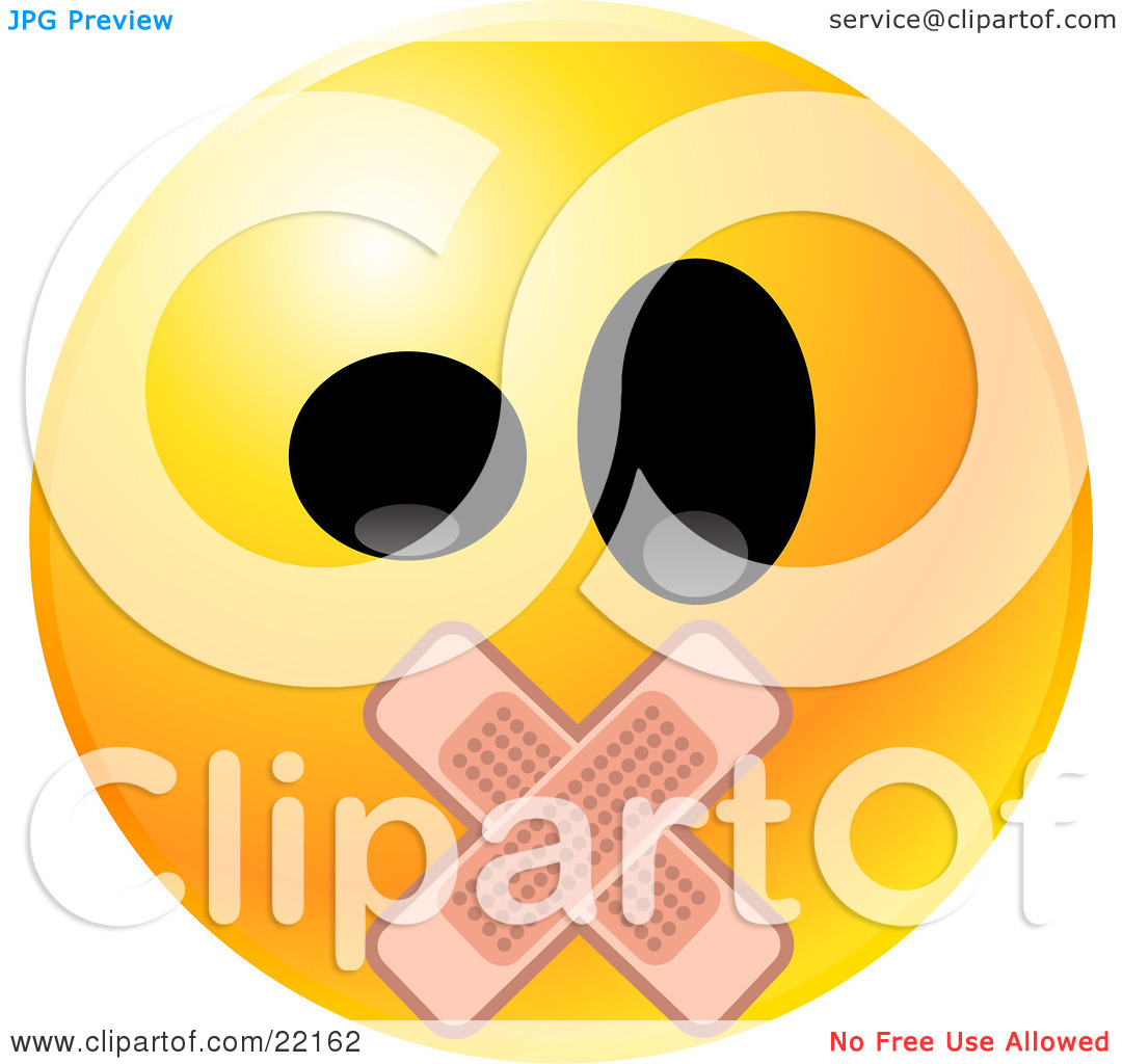 Clipart face with big mouth image library download Clipart Illustration of a Yellow Emoticon Face With Big Black Eyes ... image library download