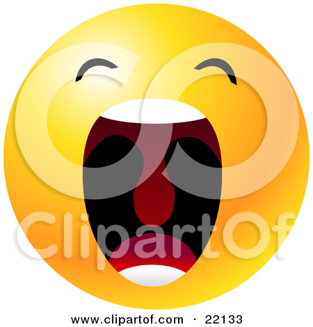 Clipart face with big mouth vector royalty free library Clipart Illustration of a Yellow Emoticon Face With Big Black Eyes ... vector royalty free library