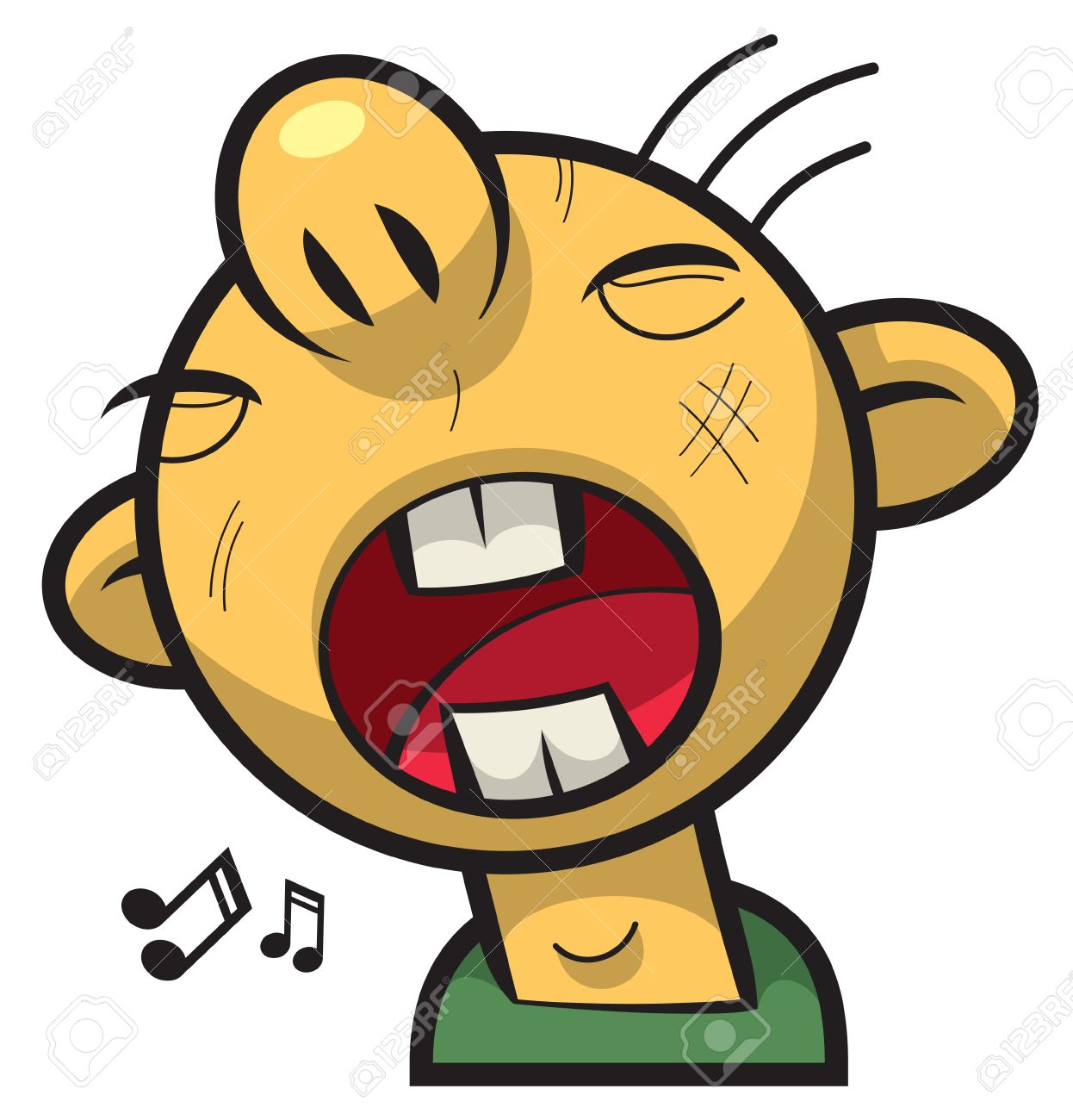 Clipart face with big mouth vector transparent stock Singing Boy With Round Face And Big Mouth Royalty Free Cliparts ... vector transparent stock