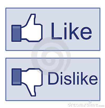 Clipart facebook dislike logo svg free stock Facebook Thumbs Like!/dislike! Editorial Photography - Image: 27710517 svg free stock