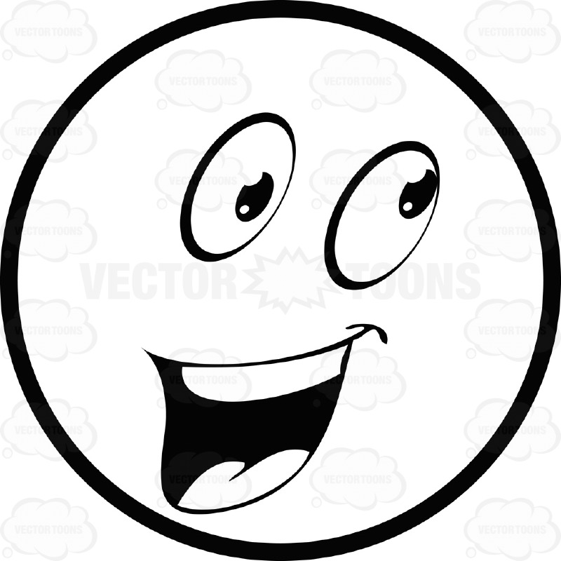 Clipart faces emotions black and white big smile png black and white library Smiley Face Black And White Clipart | Free download best Smiley Face ... png black and white library