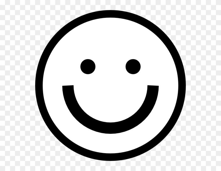 Happy clipart black and white face