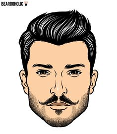 Clipart faded brown ink small mustache template free library 78 Best Handlebar Mustache images in 2015 | Mustache, Handlebar ... free library