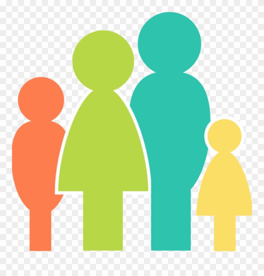 Clipart faimly image transparent stock Clipart, Family Clipart Multicolor Family Clip Art - Family Icon ... image transparent stock