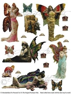 Clipart fairy printables clipart transparent library Instant Download Fairyland Frolics Digital Altered Art Collage ... clipart transparent library