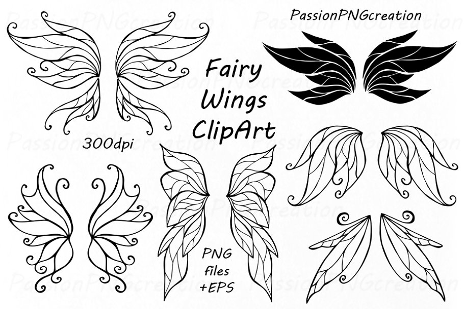 Fairy wing clipart