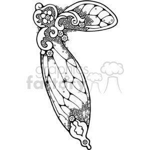 Clipart fairy wings banner black and white download cartoon fairy wing clipart. Royalty-free clipart # 380194 banner black and white download