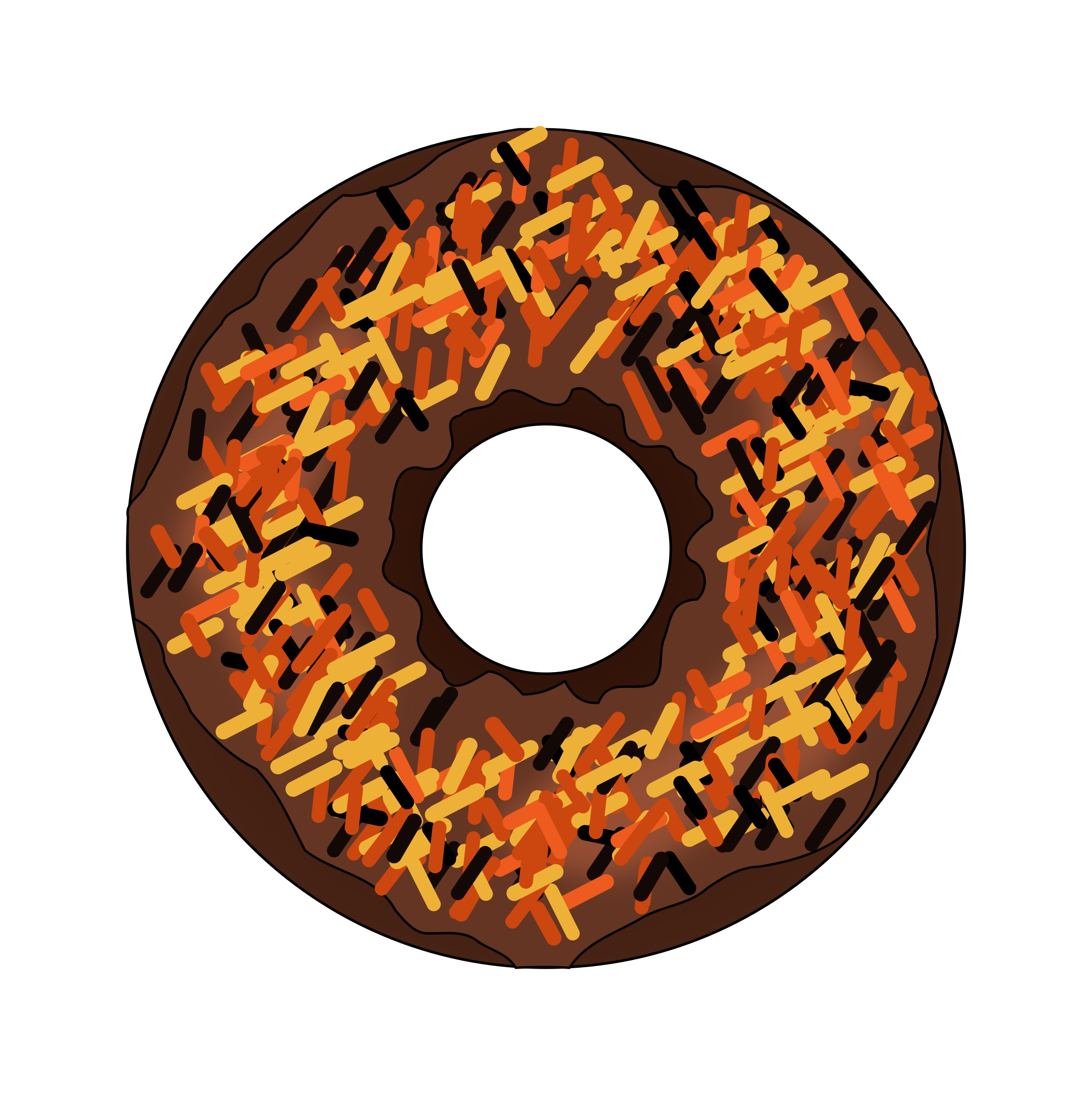 Clipart fall and halloween picture Clipart - Fall or Halloween Donut picture