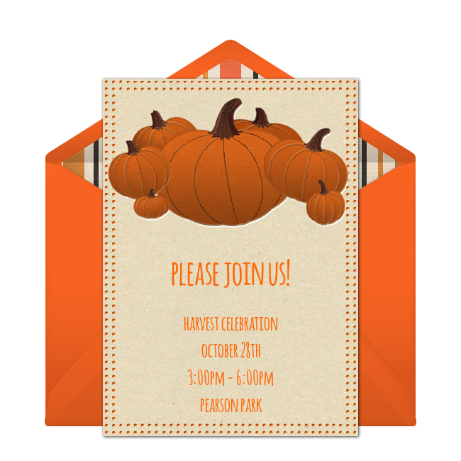 Creepy pumpkin flaming clipart jpg freeuse Free Pumpkin Patch Invitations | Free party invitations, Halloween ... jpg freeuse