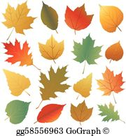Clipart images of fall leaves clip art freeuse download Autumn Leaves Clip Art - Royalty Free - GoGraph clip art freeuse download