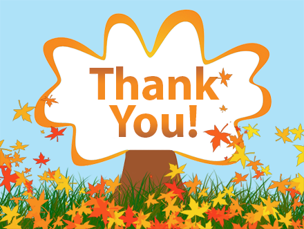 Clipart fall thank you image black and white stock Fall thank you clipart kid 3 – Gclipart.com image black and white stock