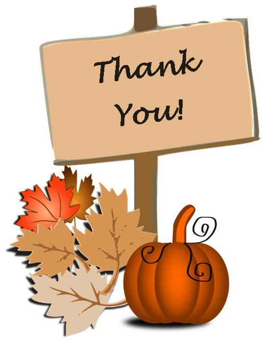 Clipart fall thank you clip art freeuse download Fall Thank You Clipart clip art freeuse download