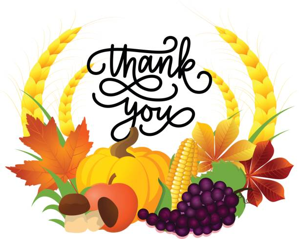 Autumn thank you clipart