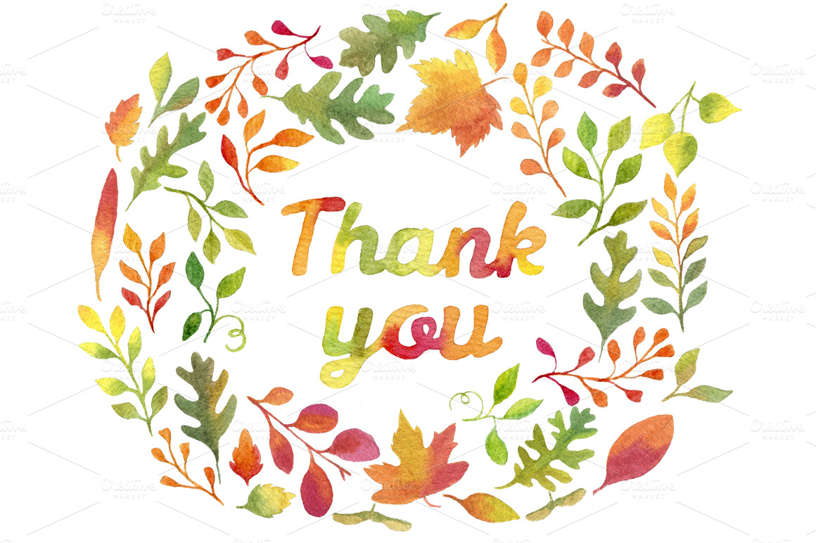 Clipart fall thank you graphic Fall Thank You Clipart graphic