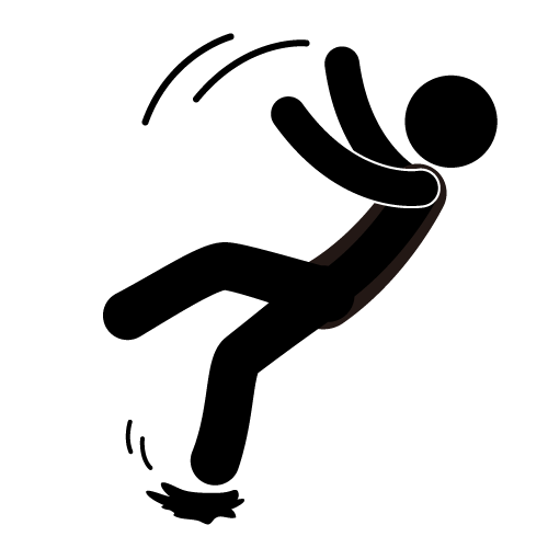 Falling over clipart