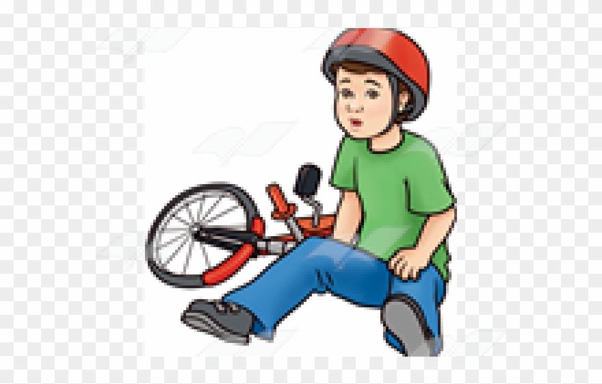 Clipart fallen clip art freeuse Bike Clipart Fallen Off - Boy Falling Off Bike Clipart - Png ... clip art freeuse