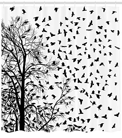 Clipart falling curtain black and white picture black and white Pictures Black and White Shower Curtain Real Tree Birch Branches Decor for  Bird Decoration Lover Natural Life Fall Themed Bathroom Design with Nature  ... picture black and white