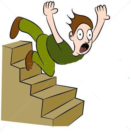 Clipart falling over