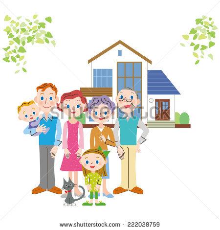 Clipart family 3 girls 1 boy jpg freeuse library 3 Girls 1 Boy Standing Front Stock Vector 304081847 - Shutterstock jpg freeuse library