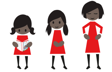Clipart family 3 girls 1 boy graphic free Menstrupedia - Your guide to healthy periods graphic free