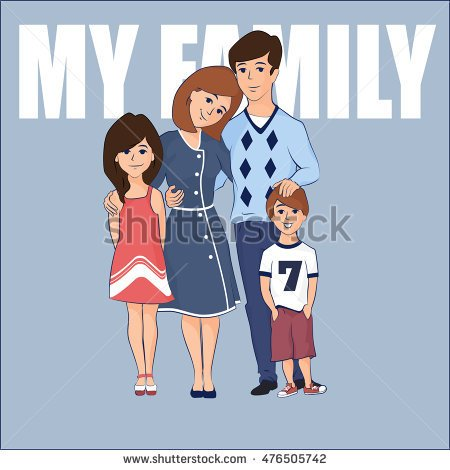 Clipart family 3 girls 1 boy clip art black and white stock Family clipart one boy 2 girls - ClipartFox clip art black and white stock