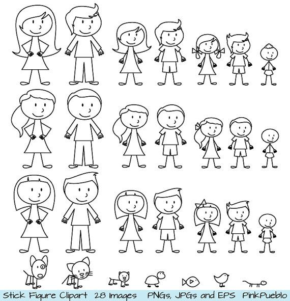 Clipart family 3 girls 1 boy graphic stock Family clipart one boy 2 girls - ClipartFox graphic stock
