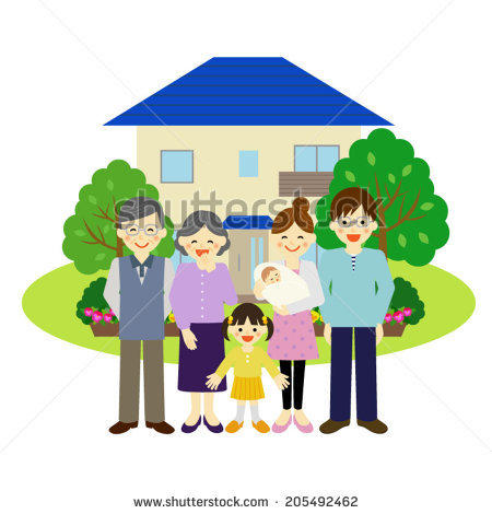 Clipart family 3 girls 1 boy clip black and white 3 Girls 1 Boy Standing Front Stock Vector 304081847 - Shutterstock clip black and white