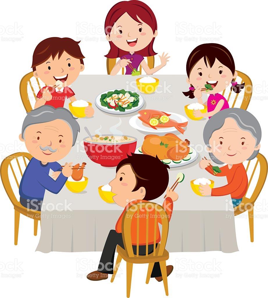 Clipart family dinner svg transparent Family dinner clipart 6 » Clipart Station svg transparent