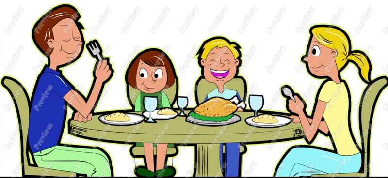 Clipart family dinner image download Free Clipart Family Eating | UNO | Grandma cooking, Cartoon grandma image download