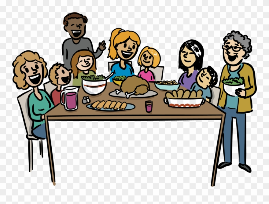 Clipart family dinner svg freeuse stock Large Size Of Thanksgiving - Big Family Dinner Cartoon Clipart ... svg freeuse stock