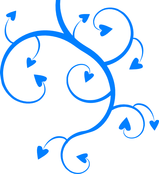 Blue Hearts Swirls Leaves Clip Art at Clker.com - vector clip art ... banner freeuse library