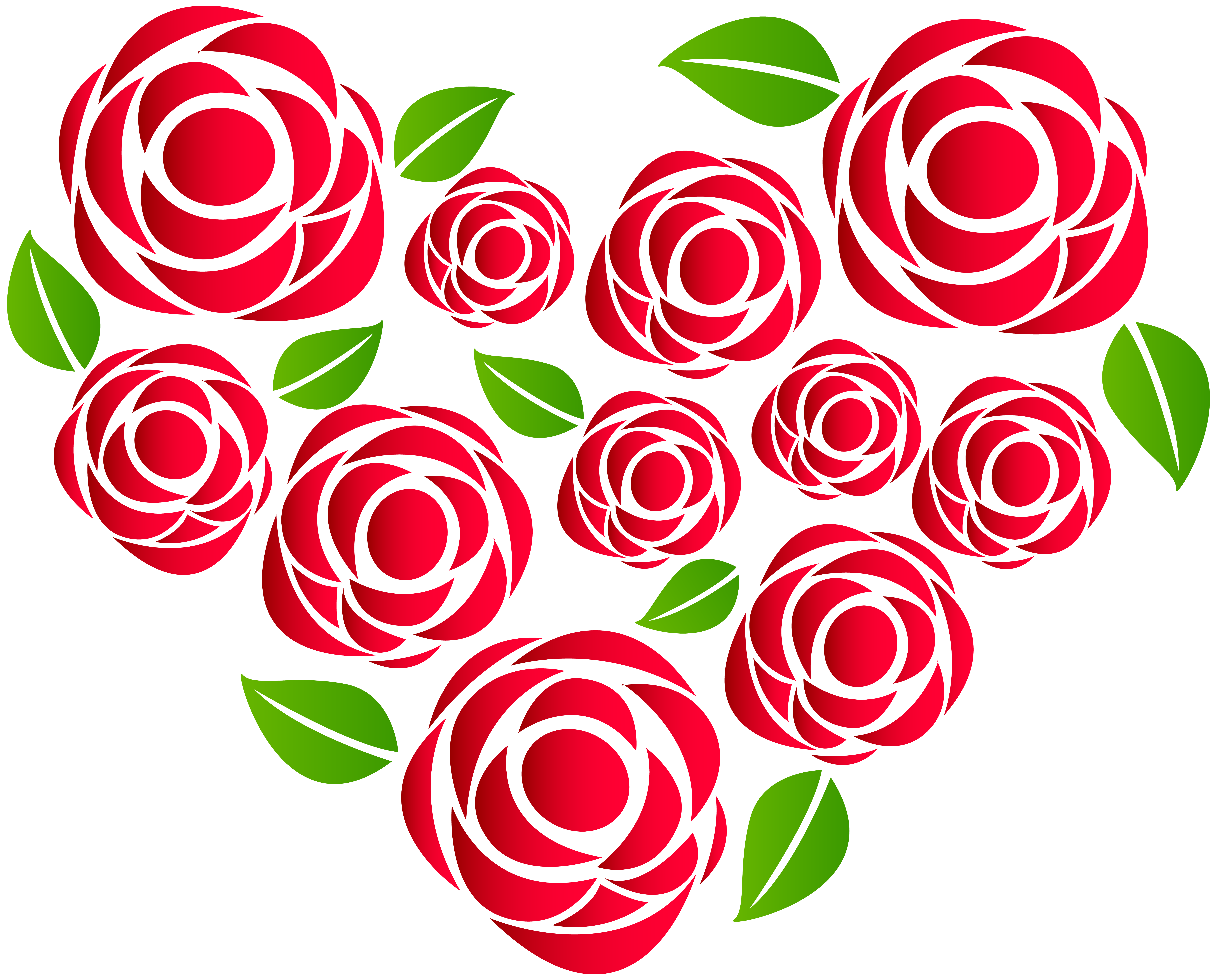 Heart of Roses Transparent PNG Clip Art | Gallery Yopriceville ... png black and white