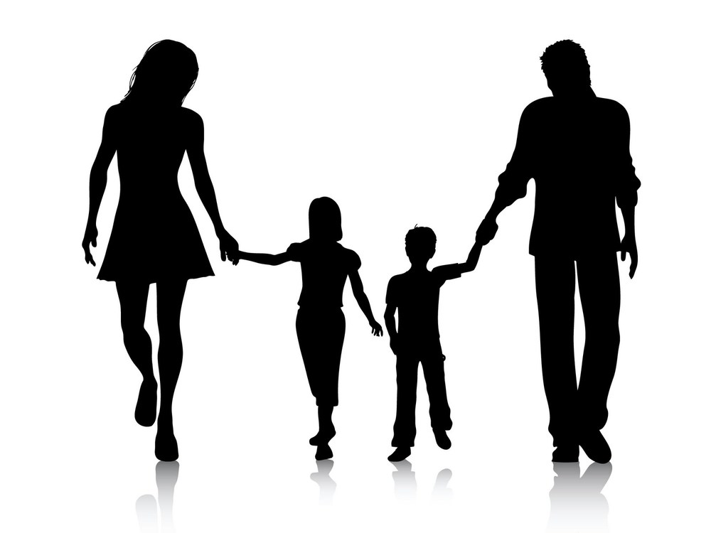 Family clipart black and white 4 people clipart royalty free download 6 family of 4 clip art. | Clipart Panda - Free Clipart Images clipart royalty free download