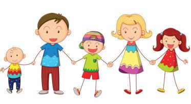 Clipart family of 6 banner transparent Family clip art free printable clipart images 6 - Clipartix banner transparent