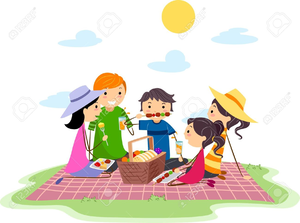 Clipart family picnic banner royalty free Family Picnic Clipart   Free Images at Clker.com - vector clip art ... banner royalty free