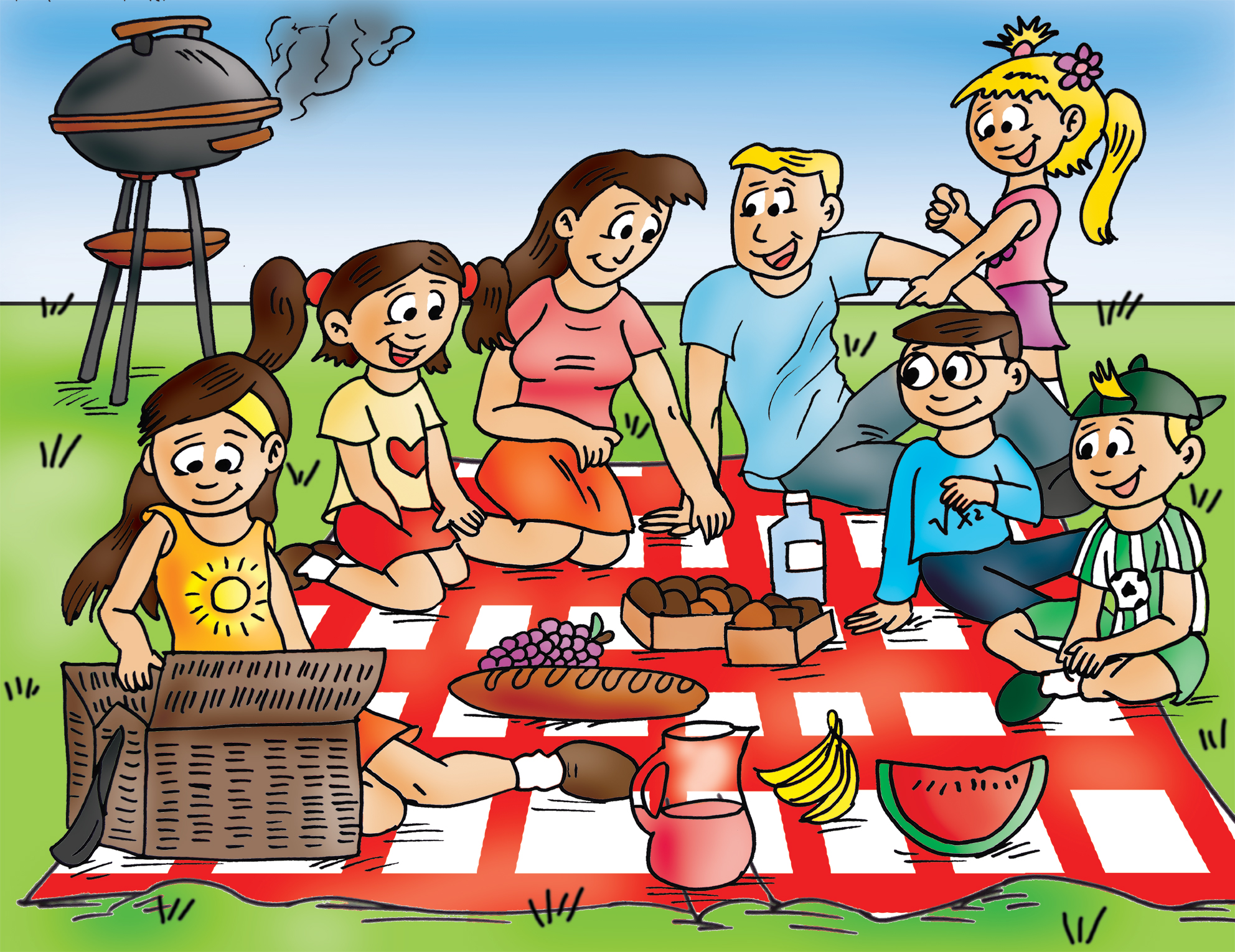 Family picnic clipart graphic freeuse Free Family Picnic Cliparts, Download Free Clip Art, Free Clip Art ... graphic freeuse