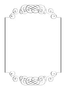 Clipart fancy borders vector free library Free vintage clip art images: Calligraphic frames and borders ... vector free library