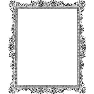 Clipart fancy borders vector library stock Fancy gold border frame clipart - ClipartFest vector library stock