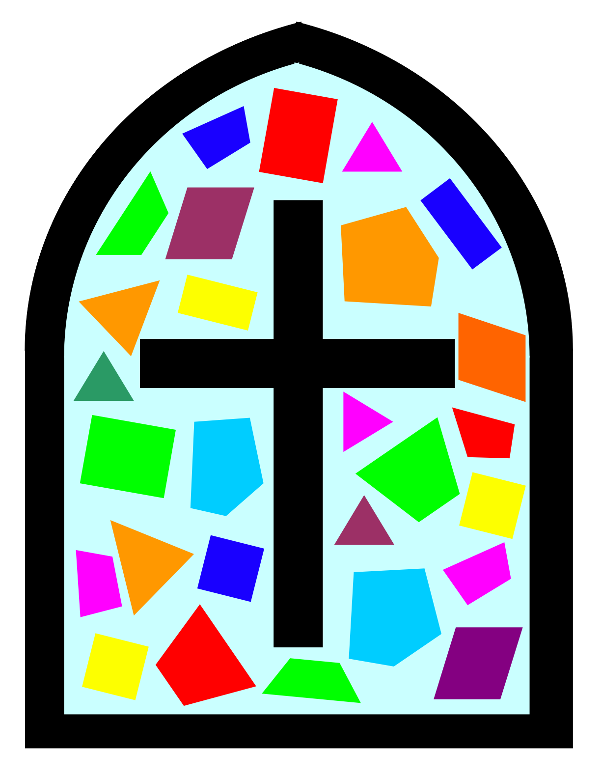 Stained glass cross clipart jpg library stock Window Clipart fancy window - Free Clipart on Dumielauxepices.net jpg library stock