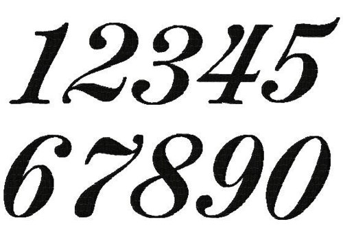 Clipart fancy numbers clip art black and white Fancy Numbers Clipart - Clipart Kid clip art black and white
