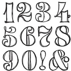 Clipart fancy numbers vector library Number Template | Getting crafty | Pinterest | Typography, Fonts ... vector library