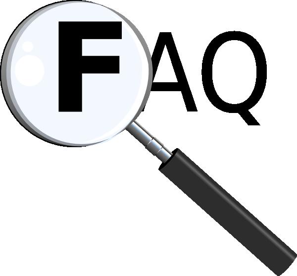 Clipart faq jpg free library Faq With Magnifying Glass Clip Art at Clker.com - vector clip art ... jpg free library