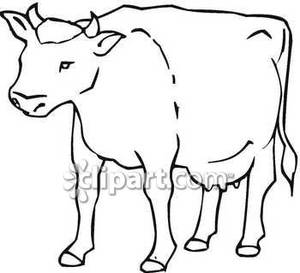 Clipart fat cows skinny cows black and white image transparent Outline Of A Cow | Free download best Outline Of A Cow on ClipArtMag.com image transparent