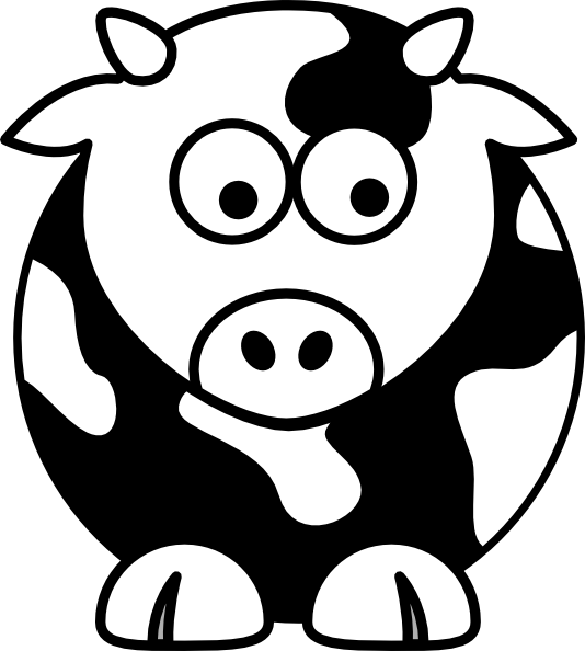 Clipart fat cows skinny cows black and white clip freeuse clip art black and white | Black And White Cow clip art - vector ... clip freeuse